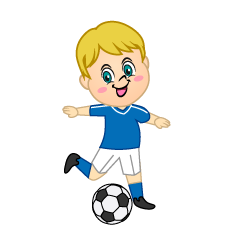 Boy Soccer Player to Kick