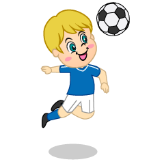 Boy Soccer Player Heading