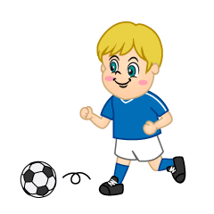 Boy Soccer Player Dribbling
