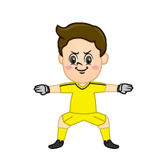 Boy Goalkeeper Clipart
