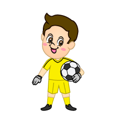 Boy Goalkeeper with Soccer Ball