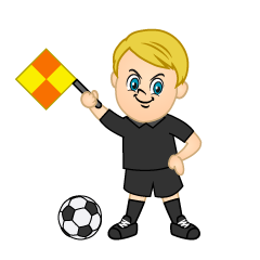 Referee Raising Flag