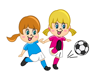 Fun Girls Playing Soccer