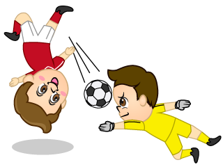 Boy Overhead Kick and Keeper