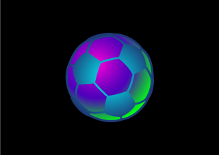 Iridescent Soccer Ball Wallpaper