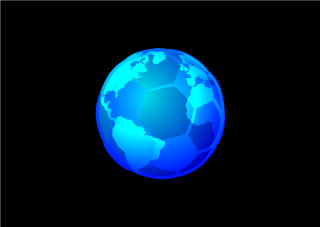 Blue Earth Soccer Ball Wallpaper