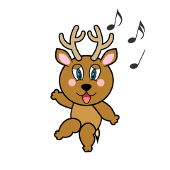 Dancing Deer Cartoon