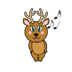 Singing Deer Cartoon