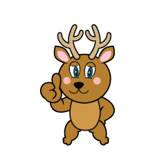Thumbs up Deer Cartoon