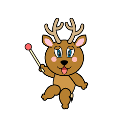 Pointing Deer Cartoon