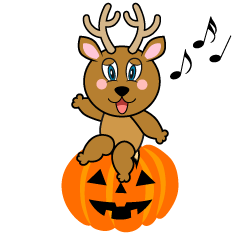 Halloween Deer Cartoon