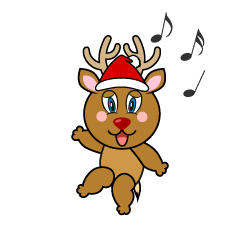 Dancing Reindeer Cartoon