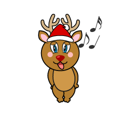 Singing Reindeer Cartoon