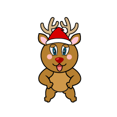 Confident Reindeer Cartoon