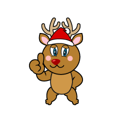 Thumbs up Reindeer Cartoon
