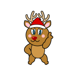 Posing Reindeer Cartoon