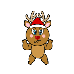 Angry Reindeer Cartoon