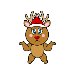 Troubled Reindeer Cartoon