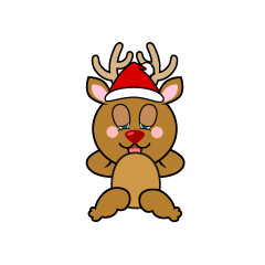 Dozing Reindeer Cartoon