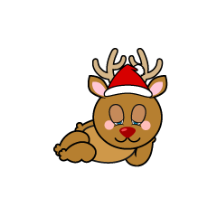 Sleeping Reindeer Cartoon