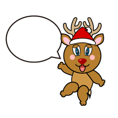 Speaking Reindeer Cartoon