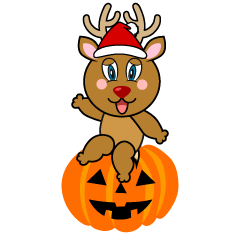 Halloween Reindeer Cartoon
