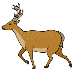 Running Deer Clipart