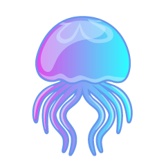 Beautiful Jellyfish Swimming Clipart