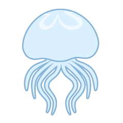 Simple Jellyfish Swimming Clipart