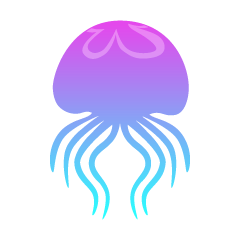 Swimming Jellyfish Silhouette
