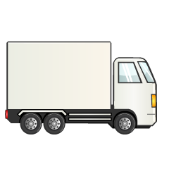 White Container Truck Clipart