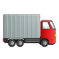 Red Container Truck Clipart