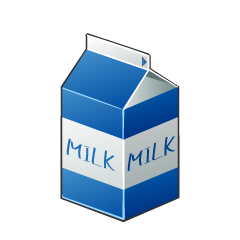 Short Milk Pack Clipart