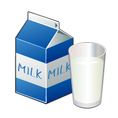 Short Milk Pack and Glass Clipart