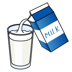 Milk into Glass Clipart