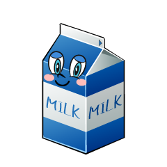 Milk Pack Character Cartoon