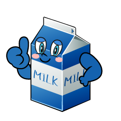 Thumbs up Milk Pack Cartoon