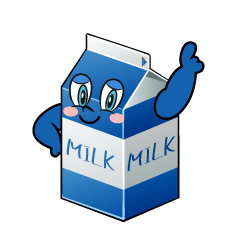 Posing Milk Pack Cartoon