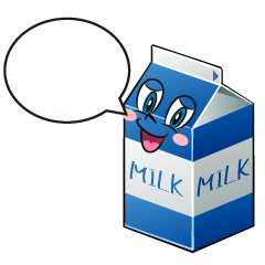 Speaking Milk Cartoon