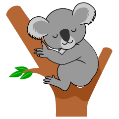 Koala Sleeping Clipart