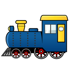 Blue Train Clipart