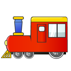 Red Train Clipart