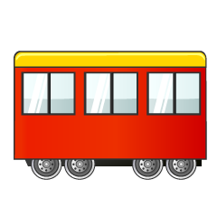 Red Train Cabin Clipart