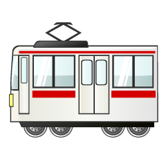 Red Line Train Clipart