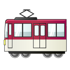 Red and White Train Clipart