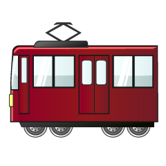 Dark Red Train Clipart
