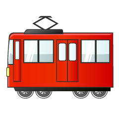 Cute Red Train Clipart
