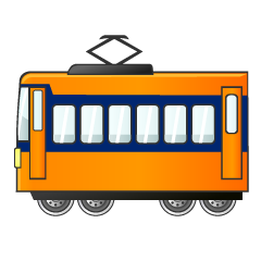 Orange Train Clipart