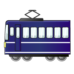 Dark Blue Train Clipart