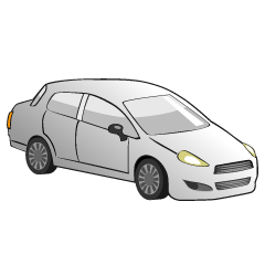 White Sedan Car Clipart